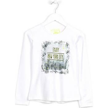 vaatteet Lapset Neulepusero Losan 624 1204AB Valkoinen