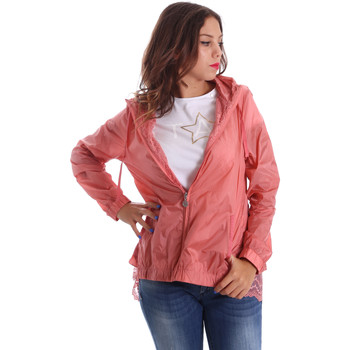 vaatteet Naiset Tuulitakit Fornarina BE173C30N29968 Vaaleanpunainen