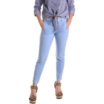 vaatteet Naiset Chino-housut / Porkkanahousut Fornarina BE171L74G29118 Sininen