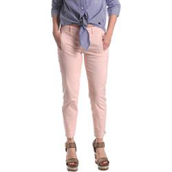 vaatteet Naiset Chino-housut / Porkkanahousut Fornarina BE171L74G291C5 Vaaleanpunainen