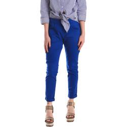 vaatteet Naiset Chino-housut / Porkkanahousut Fornarina BE171L75G29112 Sininen
