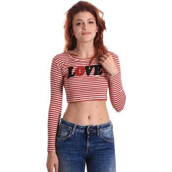 vaatteet Naiset T-paidat pitkillä hihoilla Fornarina BE175L14JG0976 Punainen