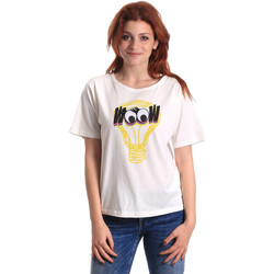 vaatteet Naiset Lyhythihainen t-paita Fornarina BE175L27JG1608 Valkoinen