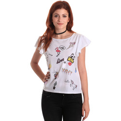 vaatteet Naiset Lyhythihainen t-paita Fornarina BE175L40JG0709 Valkoinen