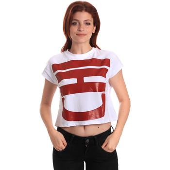 vaatteet Naiset Lyhythihainen t-paita Fornarina SE175L31JG0709 Valkoinen