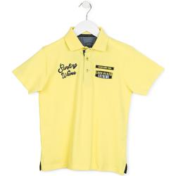vaatteet Lapset Lyhythihainen poolopaita Losan 713 1032AA Keltainen