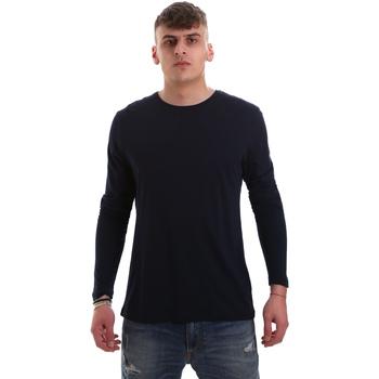 vaatteet Miehet T-paidat pitkillä hihoilla Antony Morato MMKL00264 FA100066 Sininen