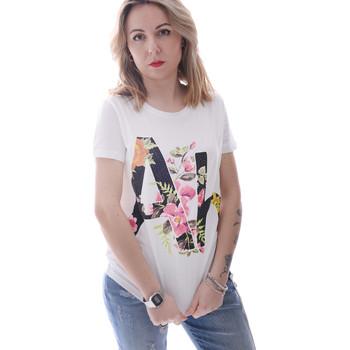 vaatteet Naiset Lyhythihainen t-paita Fracomina FR20SP368 Valkoinen