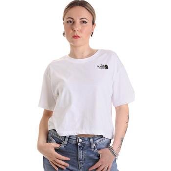 vaatteet Naiset Lyhythihainen t-paita The North Face NF0A4SYCFN41 Valkoinen