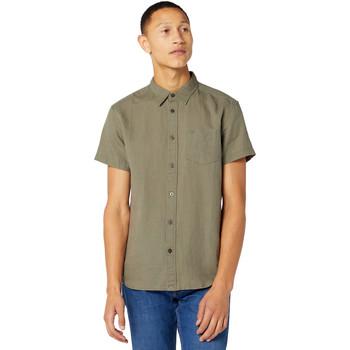 vaatteet Miehet Lyhythihainen paitapusero Wrangler W5J1LOX45 Vihreä
