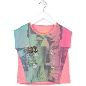 vaatteet Tytöt Lyhythihainen t-paita Losan 714 1017AB Vaaleanpunainen