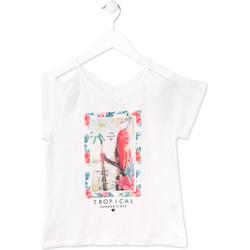 vaatteet Tytöt Lyhythihainen t-paita Losan 714 1026AB Valkoinen