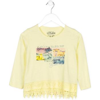 vaatteet Lapset Neulepusero Losan 714 1031AB Keltainen