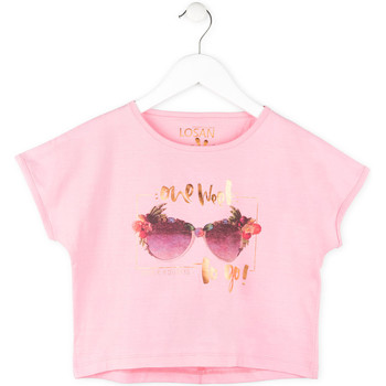vaatteet Tytöt Lyhythihainen t-paita Losan 714 1200AB Vaaleanpunainen