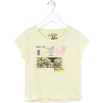 vaatteet Tytöt Lyhythihainen t-paita Losan 714 1208AB Keltainen