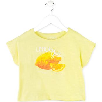 vaatteet Tytöt Lyhythihainen t-paita Losan 714 1211AB Keltainen