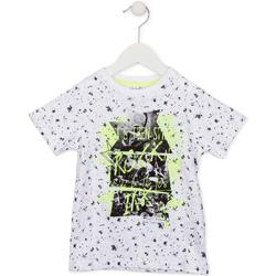 vaatteet Lapset Lyhythihainen t-paita Losan 715 1008AC Valkoinen