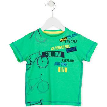 vaatteet Pojat Lyhythihainen t-paita Losan 715 1014AC Vihreä