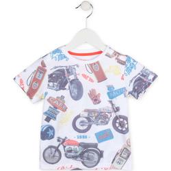 vaatteet Pojat Lyhythihainen t-paita Losan 715 1017AC Valkoinen