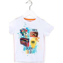 vaatteet Pojat Lyhythihainen t-paita Losan 715 1023AC Valkoinen