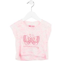 vaatteet Tytöt Lyhythihainen t-paita Losan 716 1011AD Vaaleanpunainen