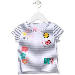 vaatteet Tytöt Lyhythihainen t-paita Losan 716 1033AD Valkoinen