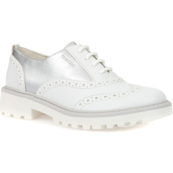 kengät Lapset Derby-kengät Geox J6420F 054AJ Valkoinen
