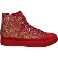 kengät Tytöt Korkeavartiset tennarit Lulu LV010077S Punainen
