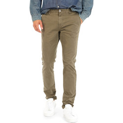 vaatteet Miehet Chino-housut / Porkkanahousut Gas 360702 Vihreä
