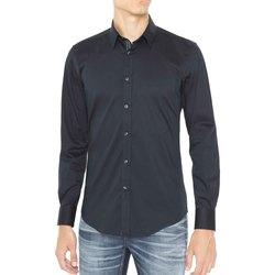 vaatteet Miehet Pitkähihainen paitapusero Antony Morato MMSL00415 FA450001 Sininen
