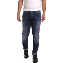 vaatteet Miehet Slim-farkut 3D P3D1 2659 Sininen