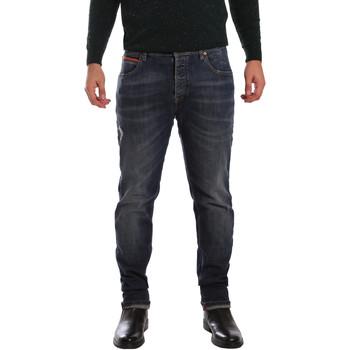 vaatteet Miehet Slim-farkut 3D P3D1 2667 Sininen