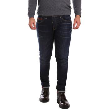 vaatteet Miehet Slim-farkut 3D P3D6 2659 Sininen