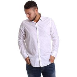 vaatteet Miehet Pitkähihainen paitapusero Gmf 972156/03 Valkoinen