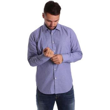 vaatteet Miehet Pitkähihainen paitapusero Gmf 972160/04 Sininen