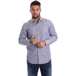 vaatteet Miehet Pitkähihainen paitapusero Gmf 972906/04 Sininen