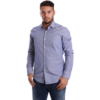 vaatteet Miehet Pitkähihainen paitapusero Gmf 972908/04 Sininen