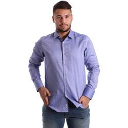 vaatteet Miehet Pitkähihainen paitapusero Gmf 972103/05 Sininen