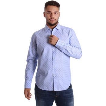 vaatteet Miehet Pitkähihainen paitapusero Gmf 972158/01 Sininen