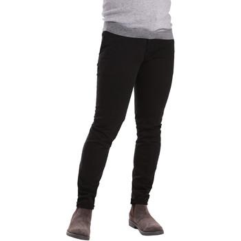 vaatteet Miehet Chino-housut / Porkkanahousut Sei3sei PZV21 7275 Musta