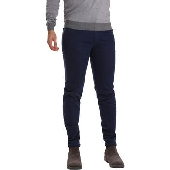 vaatteet Miehet 5-taskuiset housut Sei3sei PZV17 7257 Sininen
