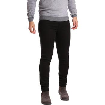 vaatteet Miehet 5-taskuiset housut Sei3sei PZV17 7257 Musta