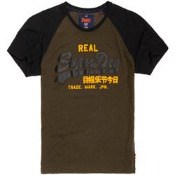 vaatteet Miehet Lyhythihainen t-paita Superdry M10008HPF1 Musta