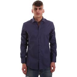 vaatteet Miehet Pitkähihainen paitapusero Gaudi 921BU45001 Sininen