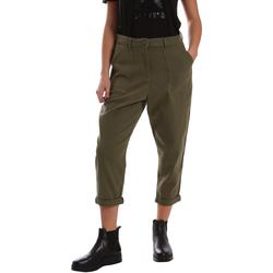 vaatteet Naiset Chino-housut / Porkkanahousut Tommy Hilfiger DW0DW02588 Vihreä