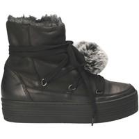 kengät Naiset Talvisaappaat Mally 5991 Musta