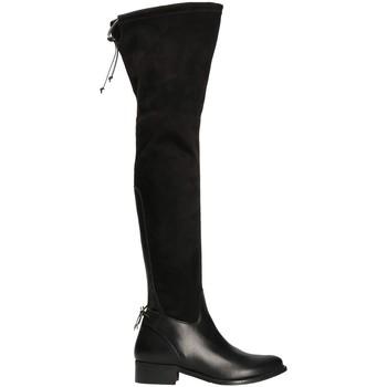 kengät Naiset Ylipolvensaappaat Mally 6077-1 Musta