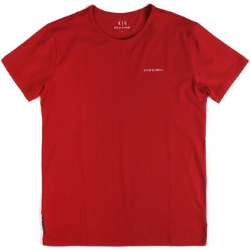 vaatteet Miehet Lyhythihainen t-paita Key Up 2G69S 0001 Punainen