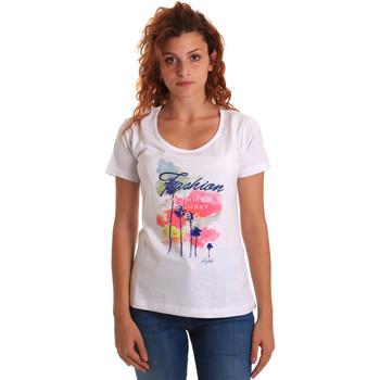 vaatteet Naiset Lyhythihainen t-paita Key Up 5D58S 0001 Valkoinen