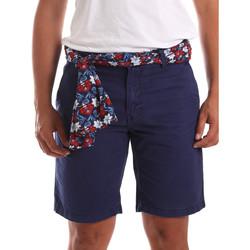 vaatteet Miehet Shortsit / Bermuda-shortsit Gaudi 911BU25032 Sininen